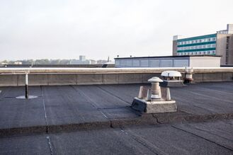 Image shows commercial torch down roof. The project was done for our client in Bay Ridge Brooklyn. Water was coming trough the roof to the top floor. Project was done in May 2019